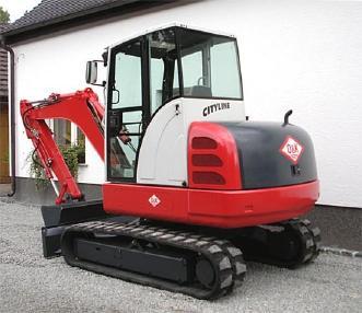 Mini excavator - O&K RH 1.48 mit Anbauteilen