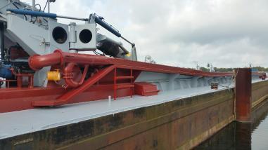 吸泥船,吸泥车 - Saugbagger Hopper-Saugbaggerschiff sandpump 14 -inch