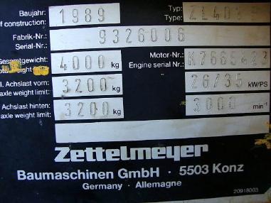 Pyöräkuormaaja - Zettelmeyer ZL 401B Radlader wheelloader 0,5m³ erst 5600h 4t