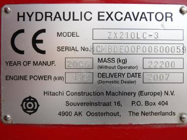 Escavatore cingolato - Hitachi ZX210