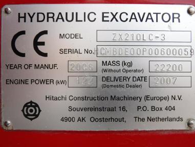 Koparka łańcuchowa - Hitachi ZX210