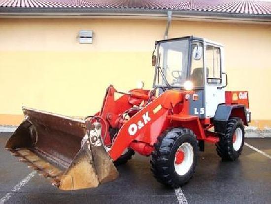 O&K L5 Radlader 4,5t wheelloader 5800h 4in1 Klappsch