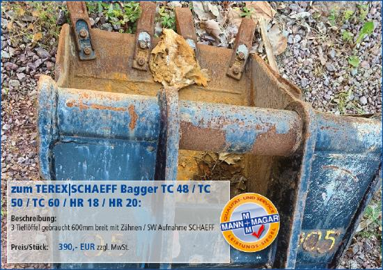 Terex-Schaeff TC 48 / TC 50 / TC 60 / HR 18 / HR 20