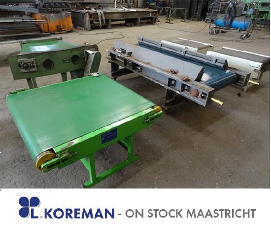 Schenk LKOREMAN BB100-700-650-500mm some smaller Belt Conveyors