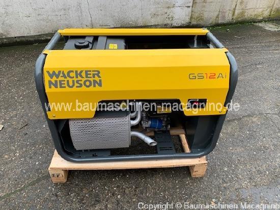Wacker Neuson GS 12 AI Generator NEU