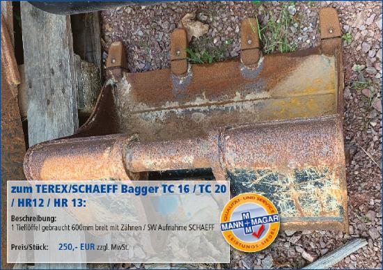 Terex-Schaeff TC 16 / TC 20 / HR12 / HR 13