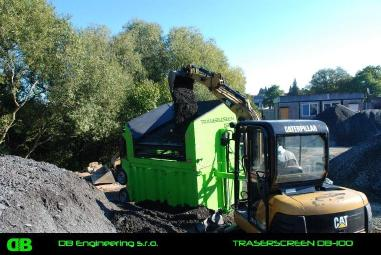 mobile screening plant - DB Engineering TRASERSCREEN DB-100