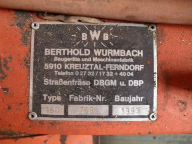 Fresadora de asfalto - BWB 150 Asphalt Warm Fräse