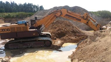 Tracked excavator - Case Poclain 350  B CK 70to.