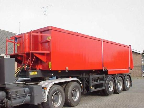 3 axle Tiptrailer with 32 m3 aluminium body