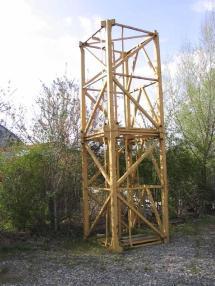 Nosturi, kääntökehä ylhäällä - Liebherr 63HC Turmstücke