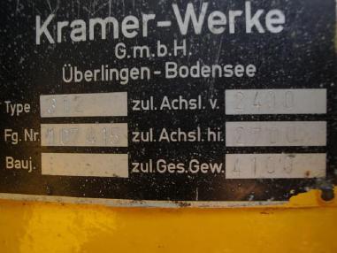 व्हील लोडर - Kramer 312 E