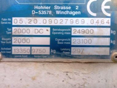 Frezarka do asfaltu - Wirtgen 2000 DC