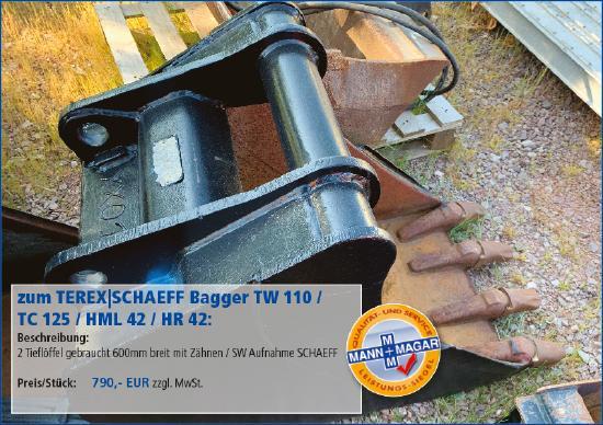 Terex-Schaeff TW 110 / TC 125 / HML 42 / HR 42