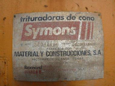 Kuželový drtič - Symons Symons