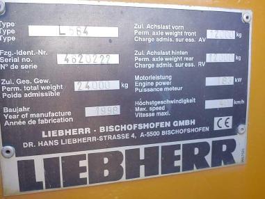 Chargeur sur pneus - Liebherr 564