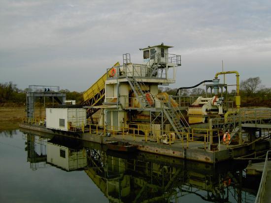 Floating bucket ladder dredger KS 200