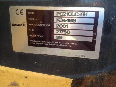 Zincirli ekskavatör - Komatsu PC210 LC-6