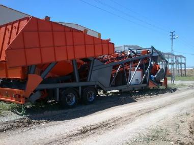 mobile Betonmischanlage - PMS Betonaufbereitungsanlage   MW-M100