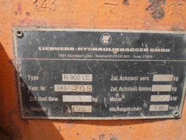 Zincirli ekskavatör - Liebherr Liebherr R902LC