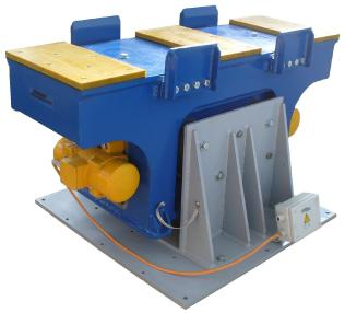 Molde para bloques de hormigón - Knauer Knauer Engineering Rütteltisch - Vibrating table