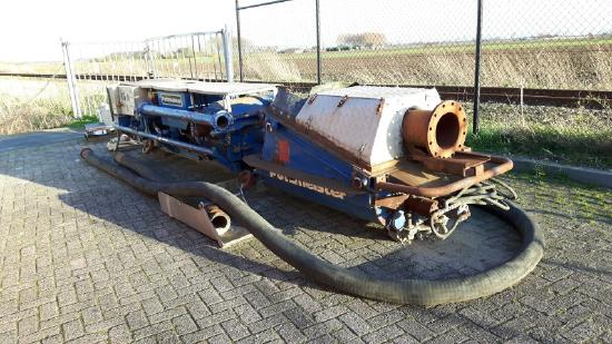 1992 Putzmeister MPT 16 Tunnel Muck Pump / Concrete & Hight density solid pump