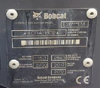 Minigraafmachine - Bobcat E26