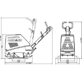 Вибрационна плоча - Ammann AVP 3920 (Neugerät)