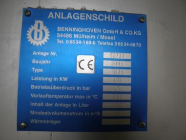 Zubehör - Benninghoven Thermalölaggregat