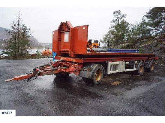 Hüffermann 3 Axle Container Trailer with Tipper.