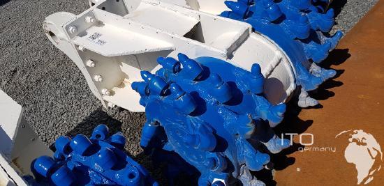 Anbaufräse für Bagger / Tunnelbagger / Bergbau, Daekong Typ DK2000, gebraucht.