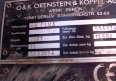 Zincirli ekskavatör - O&K RHplus