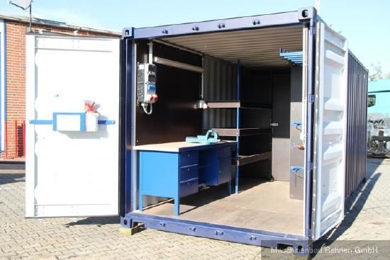 Werkstattcontainer / Baustellencontainer mit Top