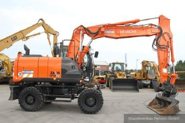 Excavator mobil - Hitachi ZX 170 W - 5B + Verachtert CW40 SW