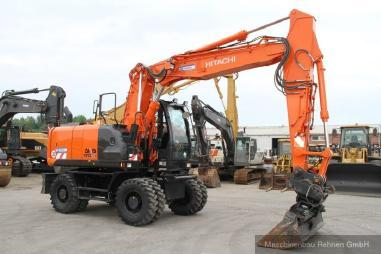 Mobile excavator - Hitachi ZX 170 W - 5B + Verachtert CW40 SW