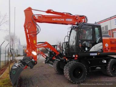 Escavatore gommato - Hitachi ZX 140 W-5 + Verachtert SW + Verstellausleger