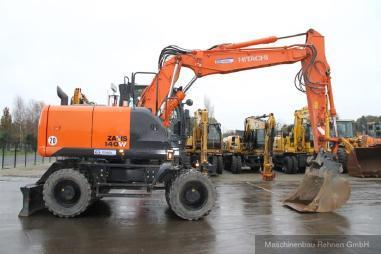 Mobile excavator - Hitachi ZX 140 W-5 + Verachtert SW + Verstellausleger