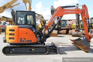 Mini excavator - Hitachi ZX 65 USB-5A CLR  + Schnellwechsler - 6.160 kg
