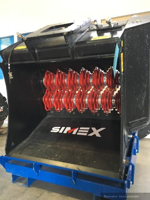 Simex VSE20 Sieblöffel m. hydr. Wellenverstellung