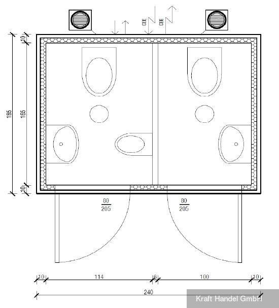 Kraft mobiles 2-er WC
