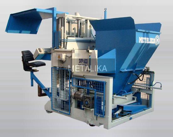 SVP-633 METALIKA Beton blok makinesidir (Beton blok üretim makinesidir)