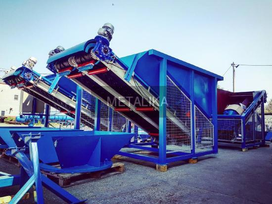 Hopper with belt conveyer DZB-2.5 Hopper for aggregate (sand, stone) DZB-2.5 METALIKA