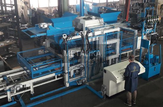 RVP-2000 GT METALIKA Concrete block making machine (Automatic line for producing concrete blocks)