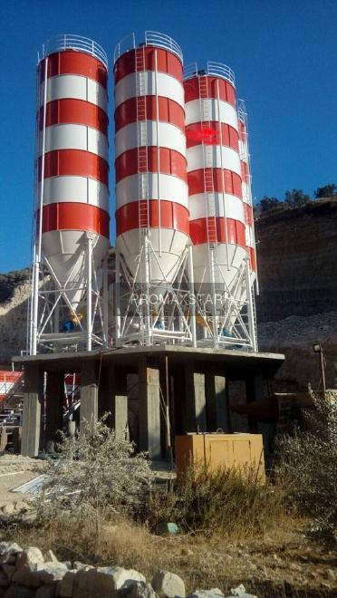 Promax 200 tons cement silo delivery from stock silos