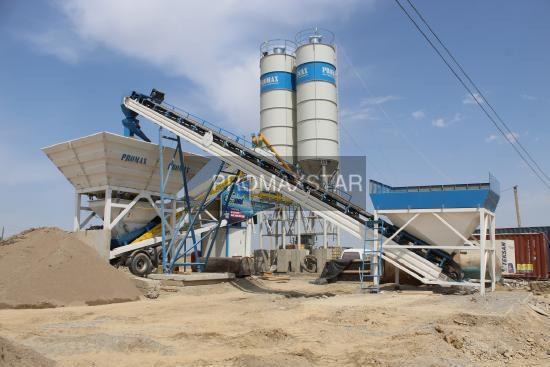 Promax Mobile Concrete Batching Plant M100-TWN(100m3/h)