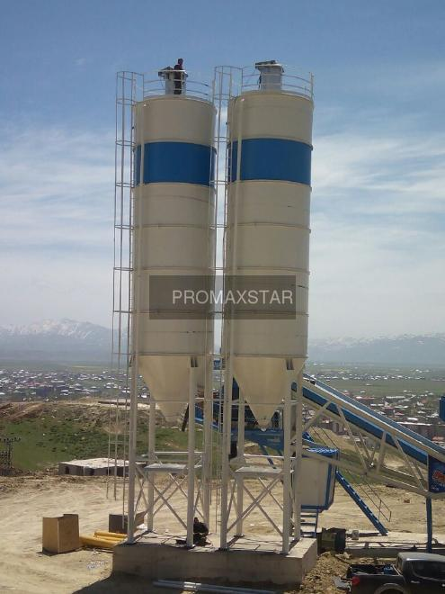 Promax 100 tons cement silo delivery from stock silos