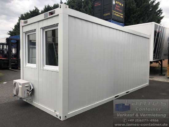 Lames Bürocontainer mit Klimagerät
