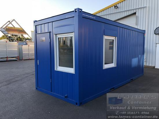 20´ Bürocontainer 20 'office container with sanitary area, shower, sink, toilet, office container with toilet, 20ft. Site Manager containers